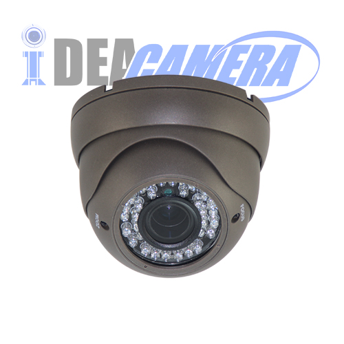 1080P IR Dome HD AHD WDR Camera with 5MP 2.8-12MM Lens