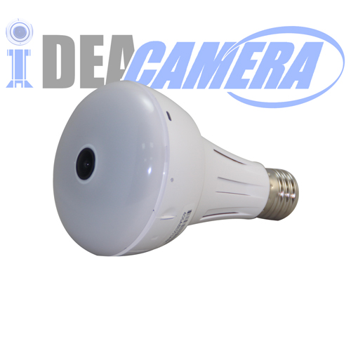 3MP WIFI 360° Panoramic Lamp Camera with HD 360° Fisheye Lens
