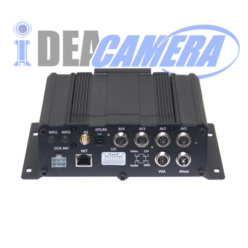 8CH 720P HD AHD Vehicle Mobile Car DVR, 3G/4G Module Optional, Built-in GPS location