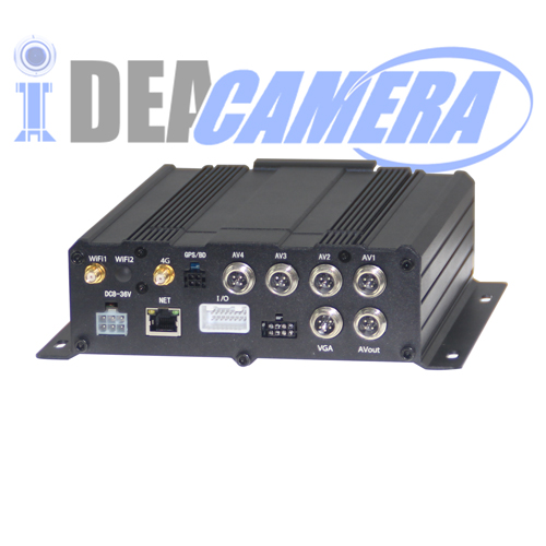 4CH H.264 1080P Professional AHD Vehicle Mobile Car DVR,Support Local storage