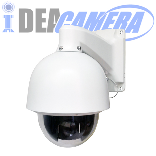 2MP H.265 6Inch PTZ High Speed Dome IP Starlight Camera, Full color all night, 18X Optical Zoom Lens