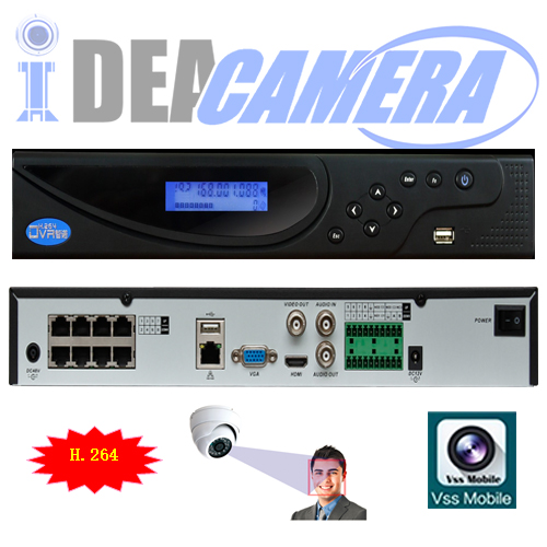 16CH 2SATA H.264 NVR with 8POE ports,1CH face detection,VSS Mobile App,Max 16ch 6MP IPC