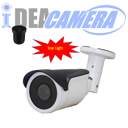 Starlight IP Camera with Audio In,H.265 1920*1080p,Internal POE,P2P,VSS Mobile App