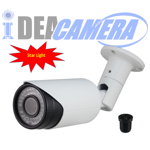 Starlight IP Camera with Audio In,POE,VSS Mobile App,P2P,H.265 1920*1080P