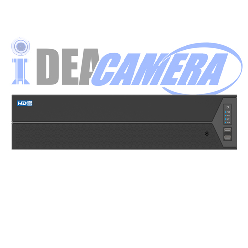 128CH H.264 NVR,8 SATA,16CH Realtime Playback,Support 4K,Support Face Detection,VSS Mobile App