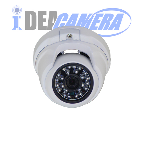 HD H.265 2.0Megapixels Metal IR Dome IP Camera, VSS Mobile APP, PoE Power Supply, Supports face detection
